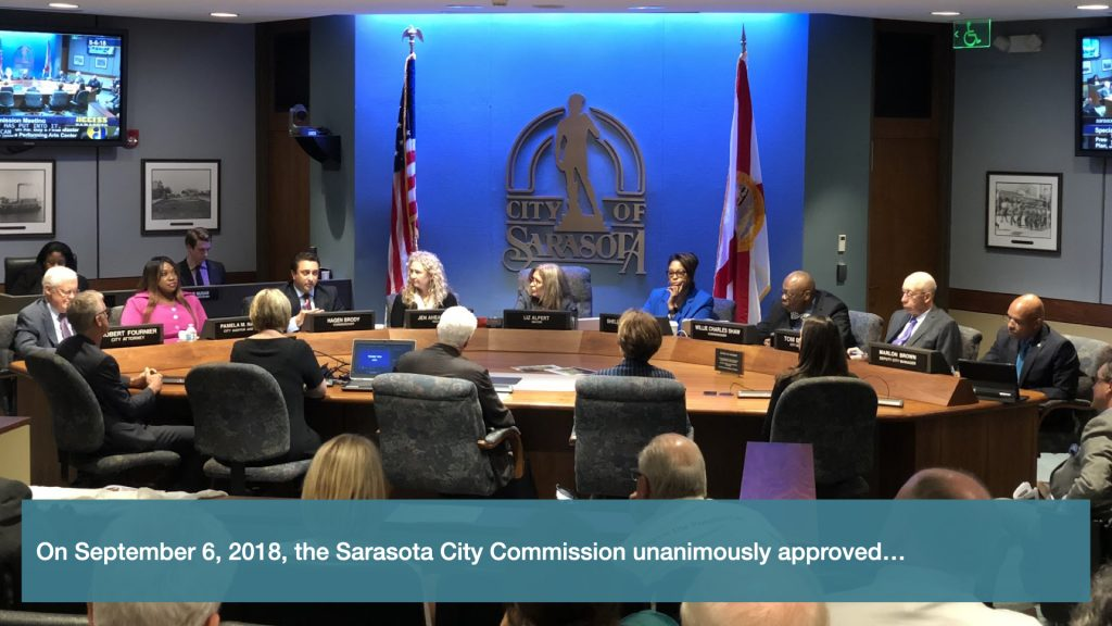 On September 6th, 2018, the Sarasota City Commission unanimously approved…