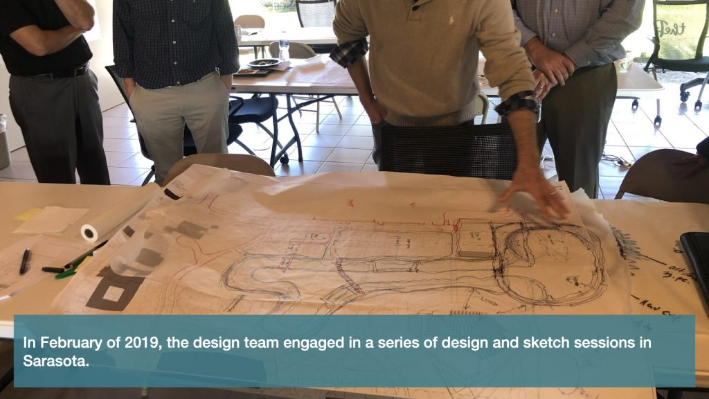 In February of 2019, the design team engaged in a series of design and sketch sessions in Sarasota.