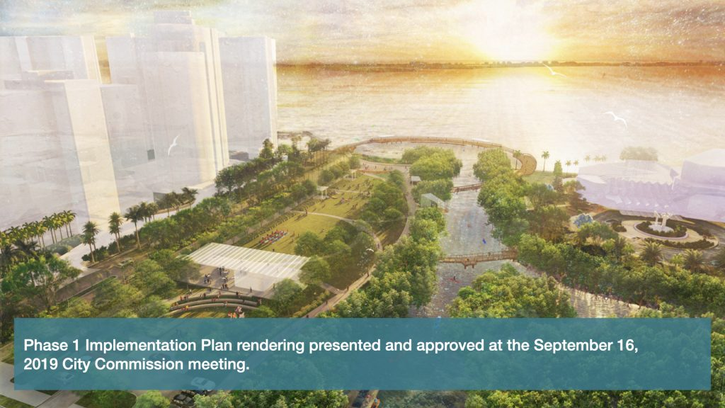 Phase 1 Implementation Plan rendering presented and approved at the September 16th City Commission meeting.