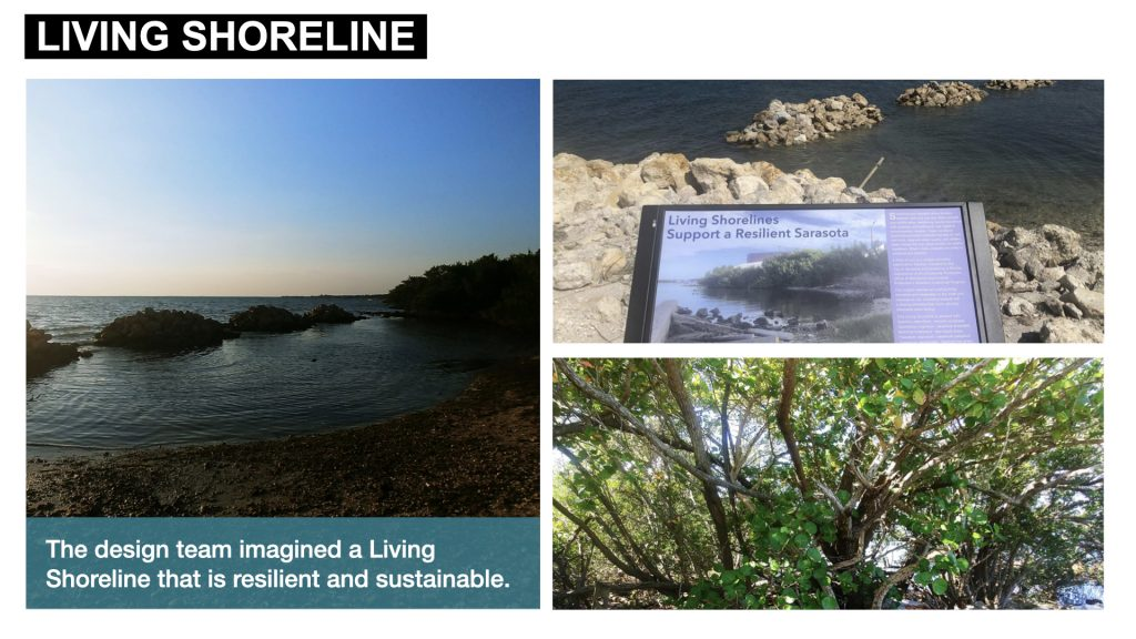 The design team imagined a Living Shoreline that is resilient and sustainable.