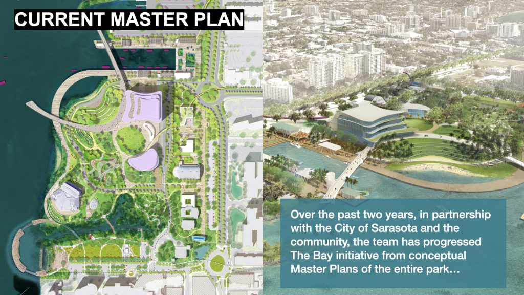 Current Master Plan. Over the past two years, in partnership with the City of Sarasota and the community, the team has progressed The Bay initiative from conceptual Master Plans of the entire park…