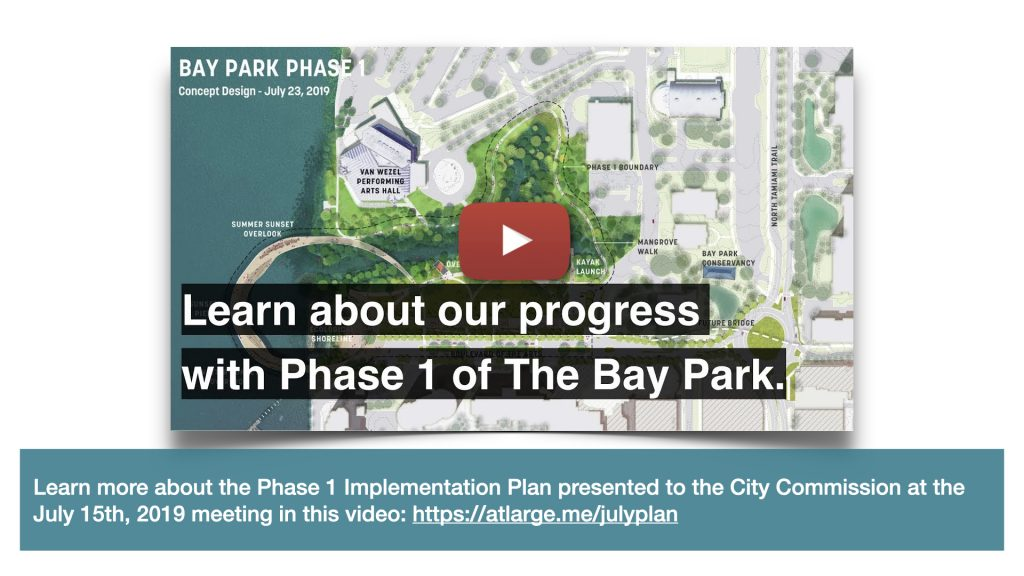 Learn more about the Phase 1 Implementation Plan presented to the City Commission at the July 15th, 2019 meeting in this video: https://atlarge.me/julyplan