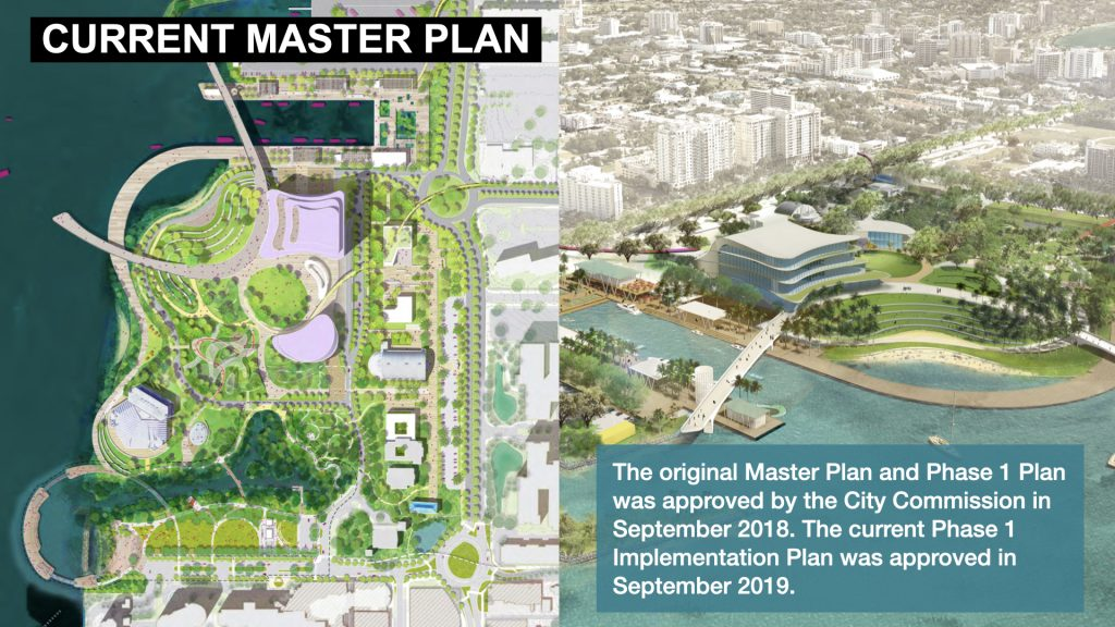 The original Master Plan and Phase 1 Plan was approved by the City Commission in September 2018. The current Phase 1 Implementation Plan was approved in September 2019.